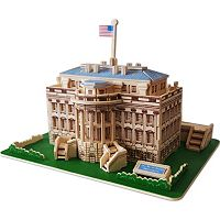 The White House 128 pc 3D Wooden Puzzle by Puzzled