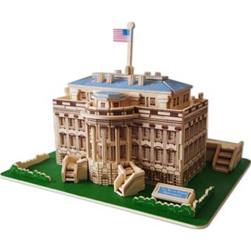 The White House 128-pc. 3D Wooden Puzzle by Puzzled