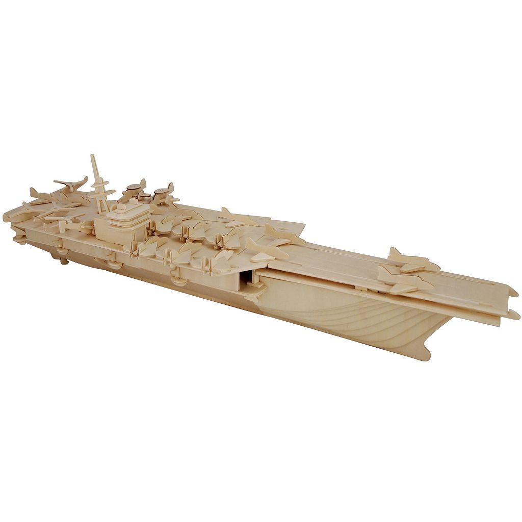 Aircraft Carrier 170-pc. 3D Wooden Puzzle by Puzzled