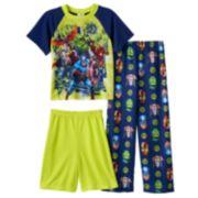 Avengers Assemble 3-Piece Pajama Set - Boys 4-10