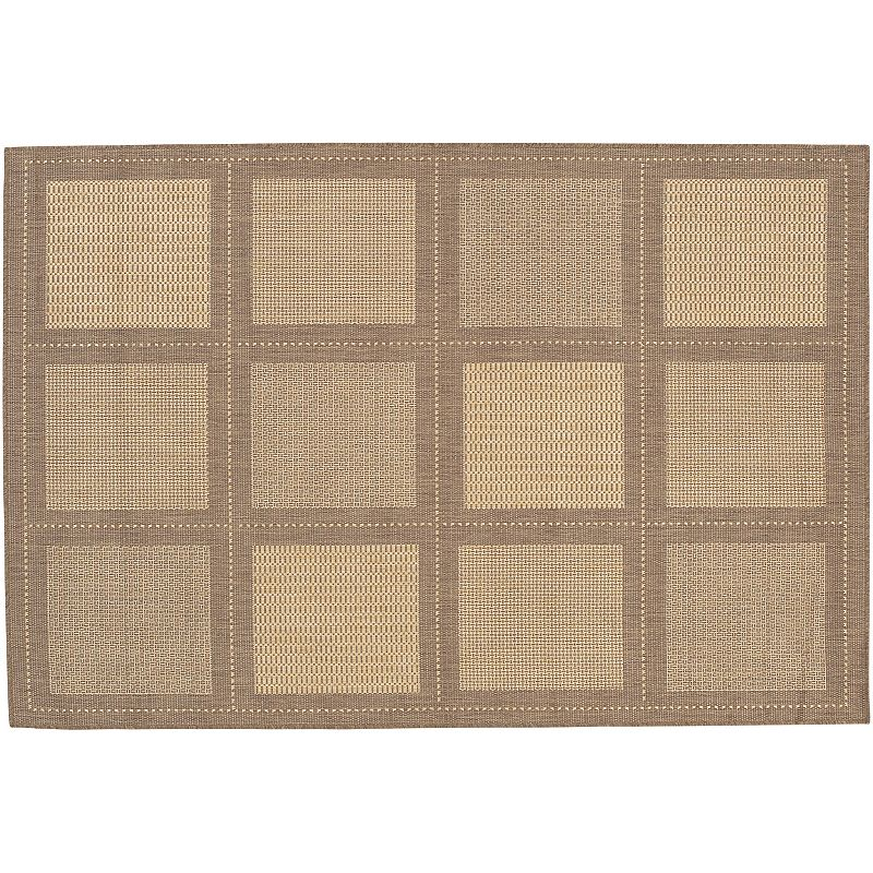 Couristan Summit Checkered Indoor Outdoor Rug, Beig/Green, 7Ft Sq Always a classic. You'll enjoy using this Couristan checkered rug for years to come.FEATURES Indoor & outdoor use Water, mold, mildew & fade resistant Checkered pattern CONSTRUCTION & CARE Courtron polypropylene Spot clean Manufacturer's 1-year limited warrantyFor warranty information please click here Imported Attention: All rug sizes are approximate and should measure within 2-6 inches of stated size. Pattern may also vary slightly. This rug does not have a slip-resistant backing. Rug pad recommended to prevent slipping on smooth surfaces. . Size: 7Ft Sq. Color: Beig/Khaki. Gender: unisex. Age Group: adult. Material: Synthetic.