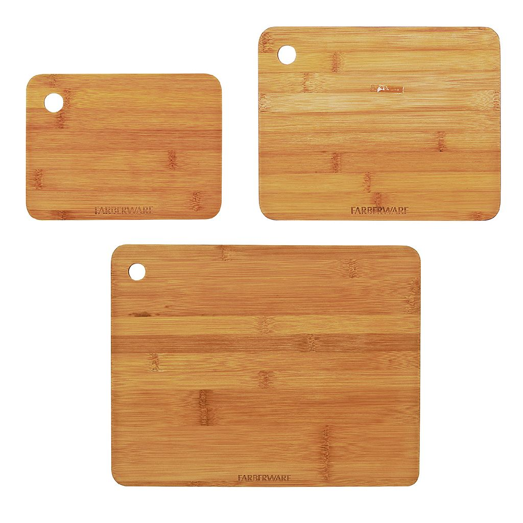 Farberware 3-pc. Bamboo Cutting Board Set