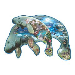 SunsOut Manatees 1,000 pc Shaped Jigsaw Puzzle