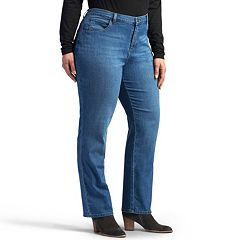 41c04eba Plus Size Lee Relaxed Fit Straight-Leg Jeans. Meridian Black Nile Biscotti