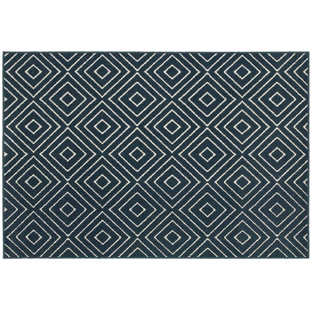 StyleHaven Longview Geometric Diamond Indoor Outdoor Rug