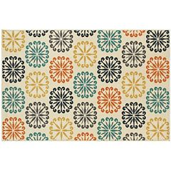 StyleHaven Longview Floral Circles Indoor Outdoor Rug