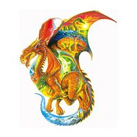SunsOut Dragon Dreams 1,000-pc. Shaped Jigsaw Puzzle
