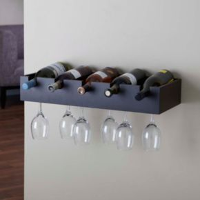 nexxt Ellington Wine Rack Wall Shelf