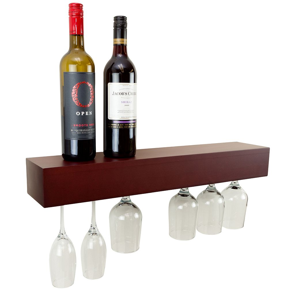 nexxt Pinot Wine Glass Wall Shelf