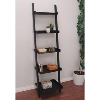 nexxt Hadfield 5-Shelf Leaning Bookcase