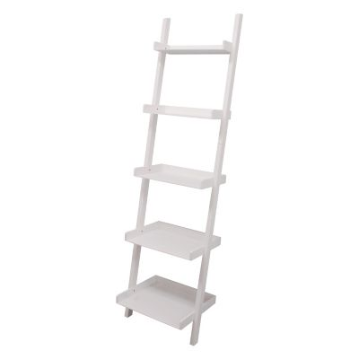nexxt Hadfield 5-Shelf Leaning Bookcase