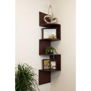 nexxt Provo Four Tier Corner Wall Shelf