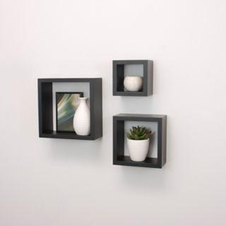 nexxt Cubi 3-piece Wall Shelf Set