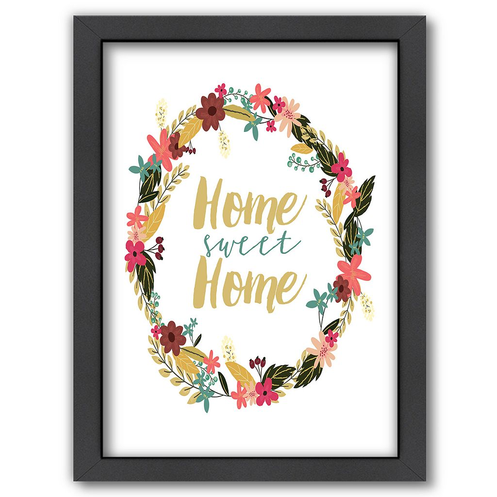 Americanflat ''Home Sweet Home'' Floral Framed Wall Art