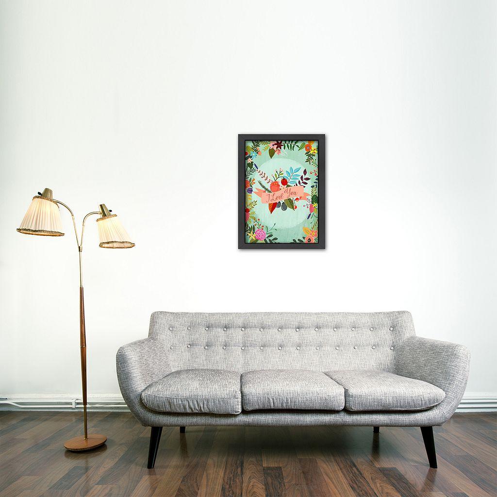 Americanflat ''I Love You'' Framed Wall Art