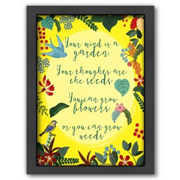 Americanflat ''Your Mind is a Garden'' Framed Wall Art