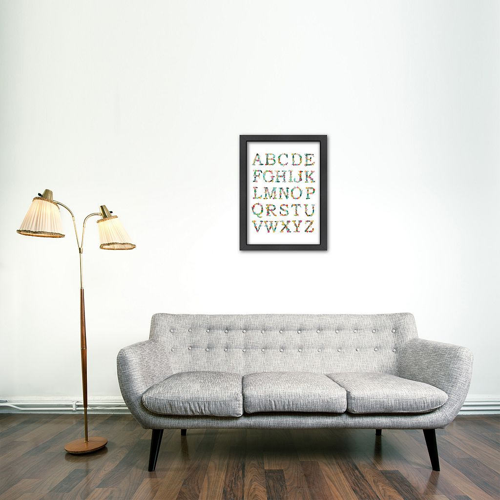 Americanflat Alphabet Framed Wall Art