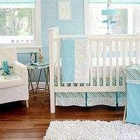 My Baby Sam Follow Your Arrow Light Blue 3 pc Crib Bedding Set