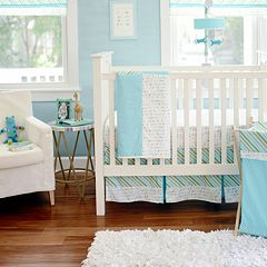 My Baby Sam Follow Your Arrow Light Blue 3-pc. Crib Bedding Set