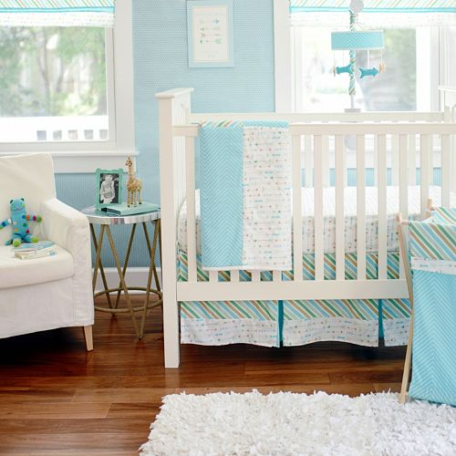 My Baby Sam Follow Your Arrow Light Blue 3-pc. Crib Bedding Set