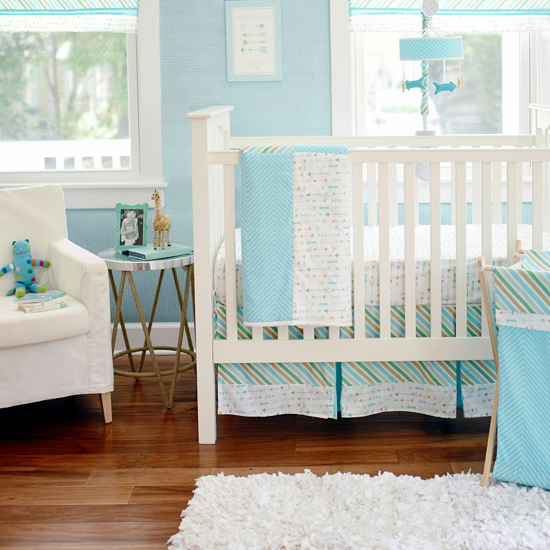 My Baby Sam Follow Your Arrow Light Blue 3-pc. Crib Bedding Set, Turquoise/Blue One Size (Turq/Aqua)