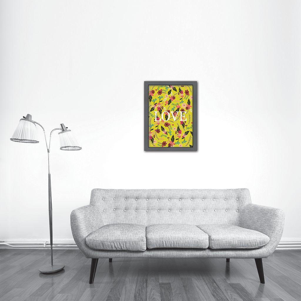 Americanflat ''Love'' Medium Framed Wall Art