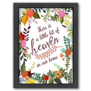 Americanflat ''There Is a Little Bit Of Heaven In Our Home'' Framed Wall Art