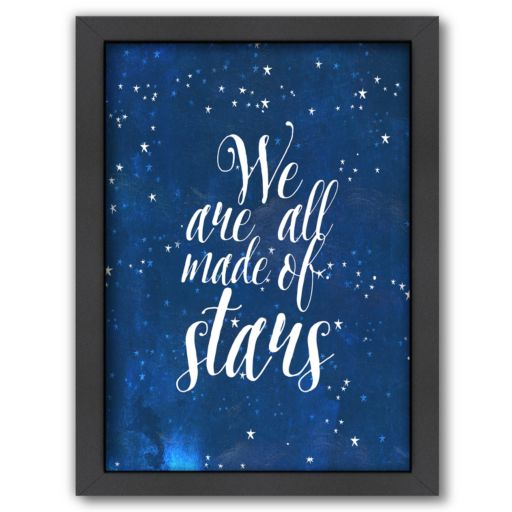 Americanflat ''We Are All Made of Stars'' Framed Wall Art