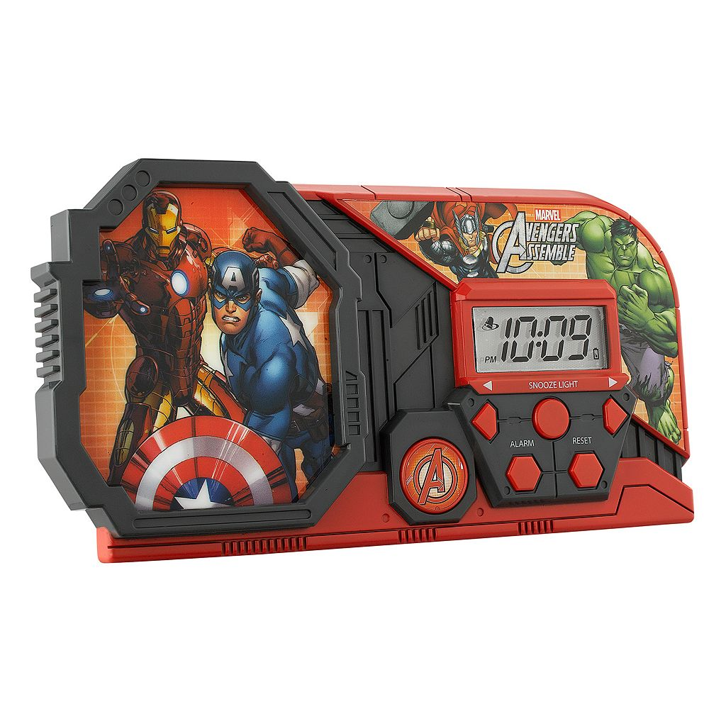 Marvel Avengers Assemble Night Glow Alarm Clock