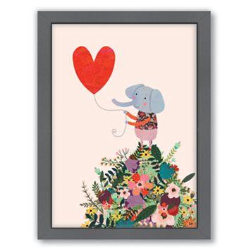 Americanflat Elephant Heart Framed Wall Art
