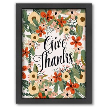 Americanflat ''Give Thanks'' Framed Wall Art