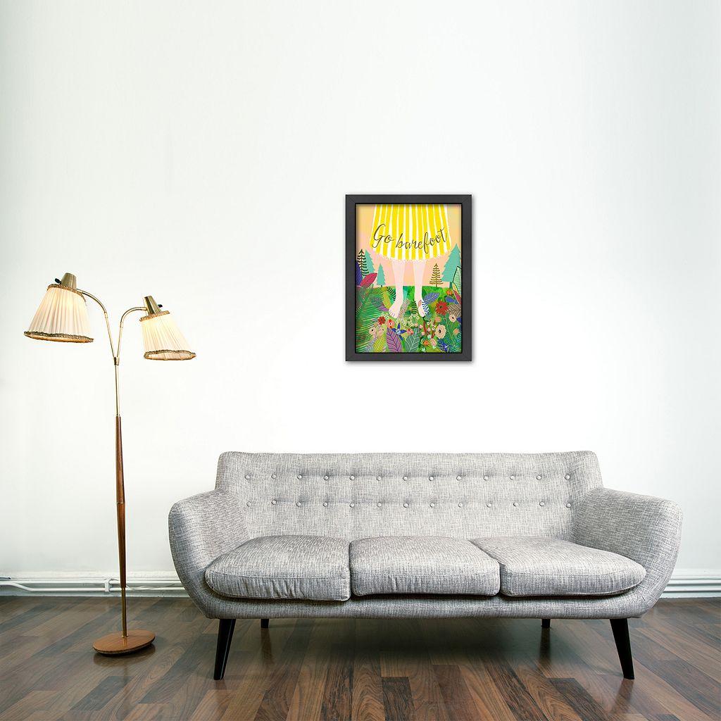 Americanflat ''Go Barefoot'' Framed Wall Art
