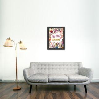 Americanflat ''My Little Sunshine'' Framed Wall Art
