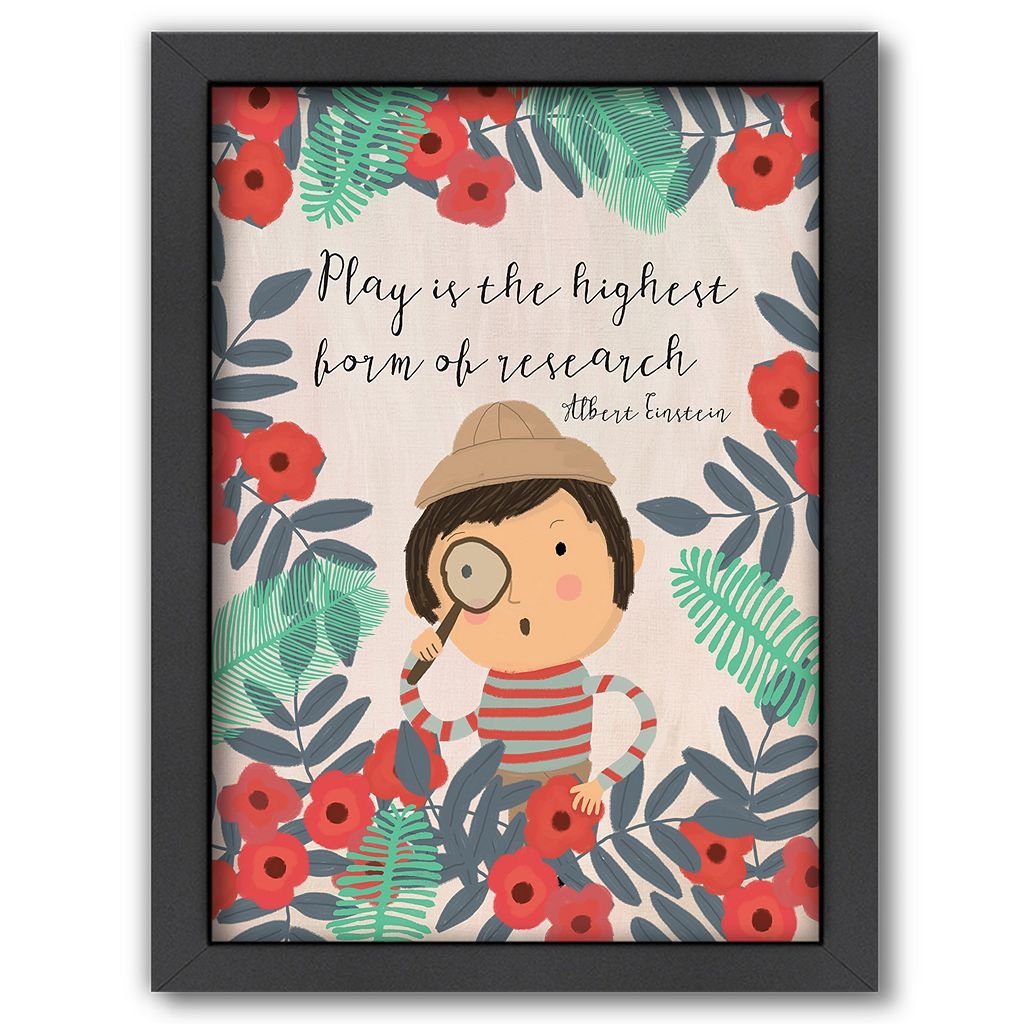 Americanflat ''Play is the Highest Form of Research'' Framed Wall Art