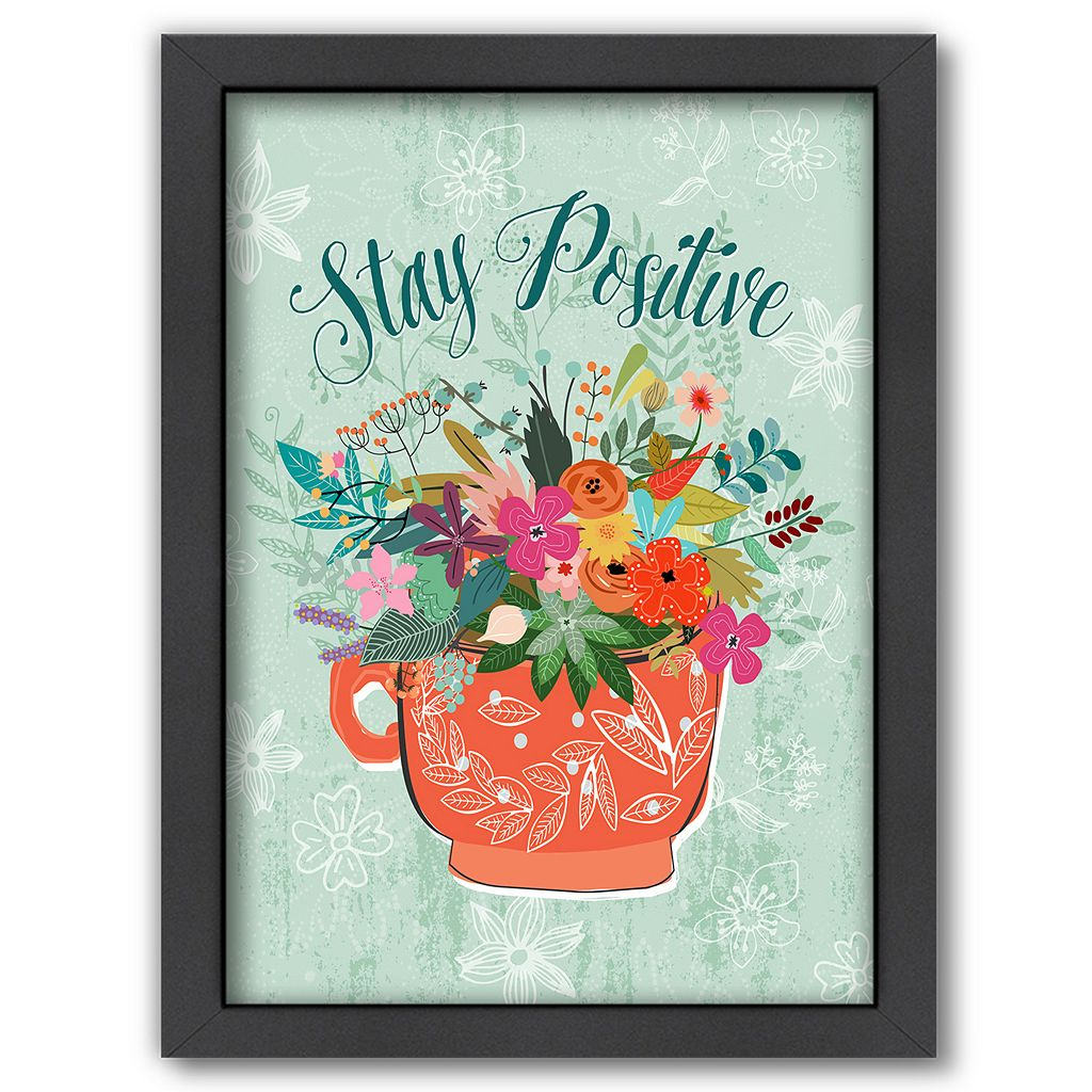 Americanflat ''Stay Positive'' Framed Wall Art