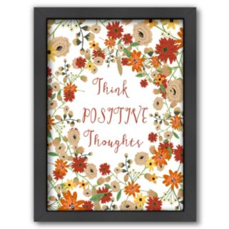 Americanflat ''Think Positive Thoughts'' Framed Wall Art