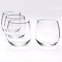 Food Network™ 4 pc Stemless Red Wine Glass Set
