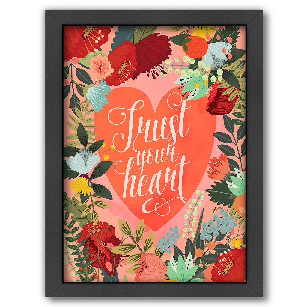 Americanflat ''Trust Your Heart'' Framed Wall Art