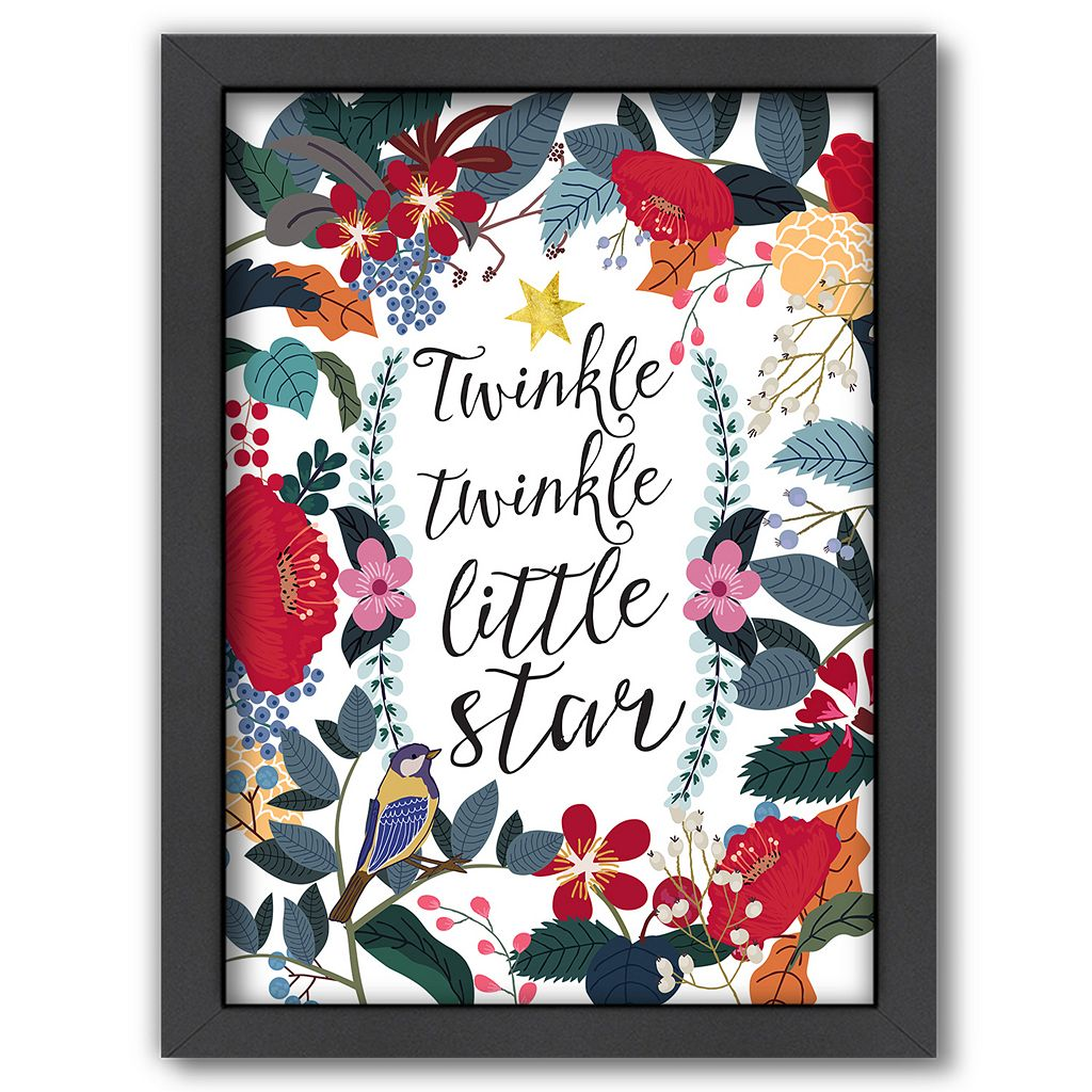 Americanflat ''Twinkle Twinkle Little Star'' Framed Wall Art