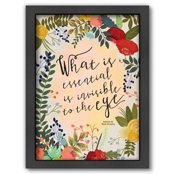 Americanflat ''What is Essential is Invisible to the Eye'' Framed Wall Art