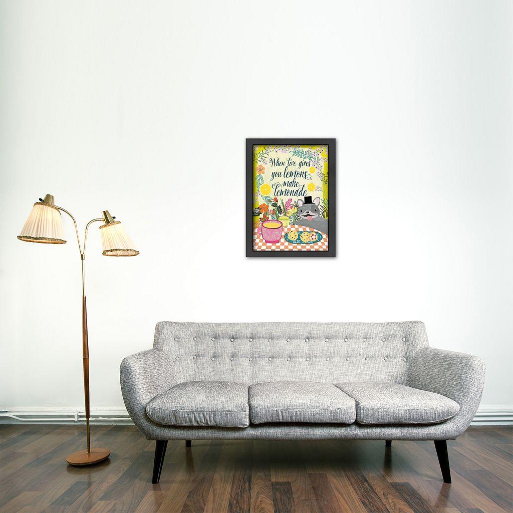 Americanflat ''When Life Gives You Lemons Make Lemonade'' Framed Wall Art