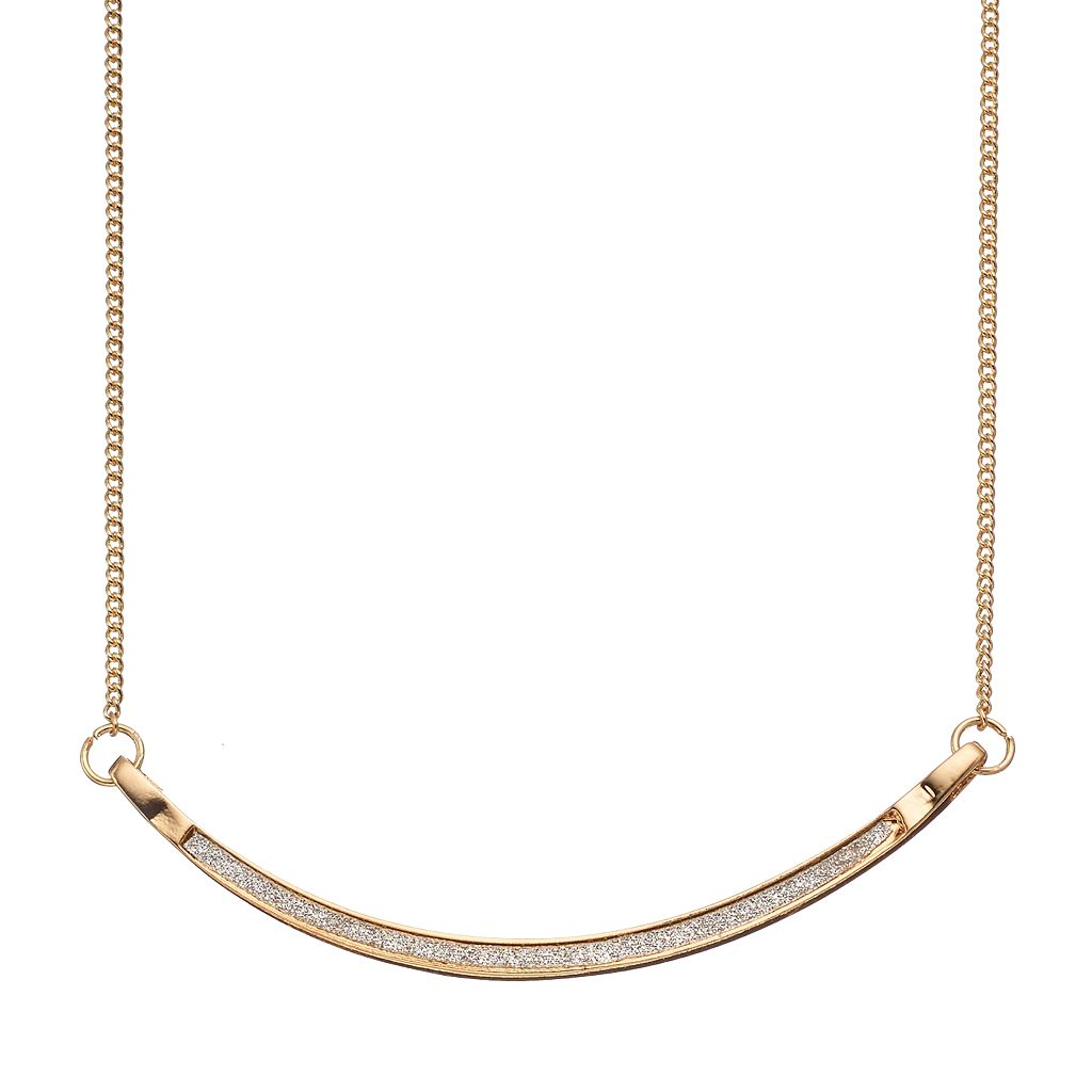 LC Lauren Conrad Curved Bar Link Necklace
