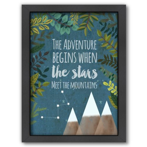Americanflat ''The Adventure Begins'' Framed Wall Art