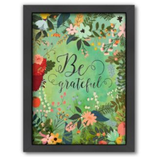 Americanflat ''Be Grateful'' Framed Wall Art