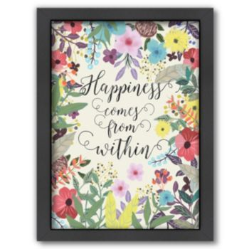 Americanflat ''Happiness Comes From Within'' Framed Wall Art