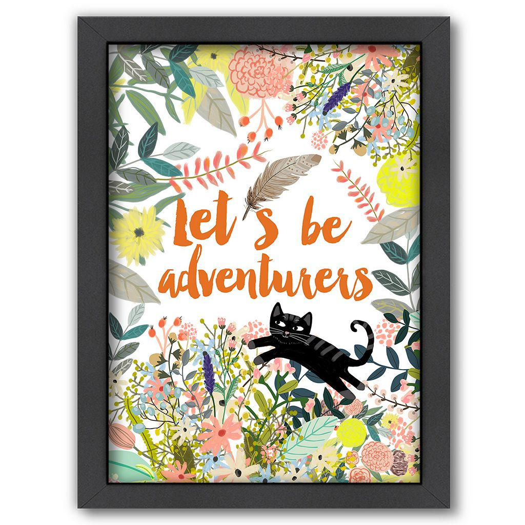Americanflat ''Let's Be Adventurers'' Framed Wall Art