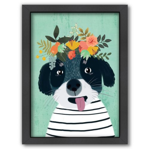Americanflat Puppy Framed Wall Art