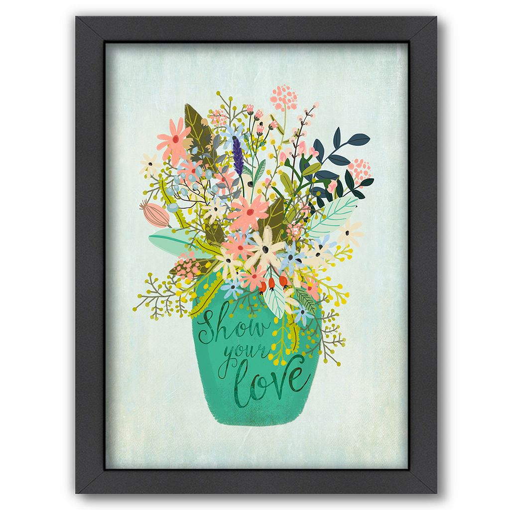 Americanflat ''Show Your Love'' Framed Wall Art