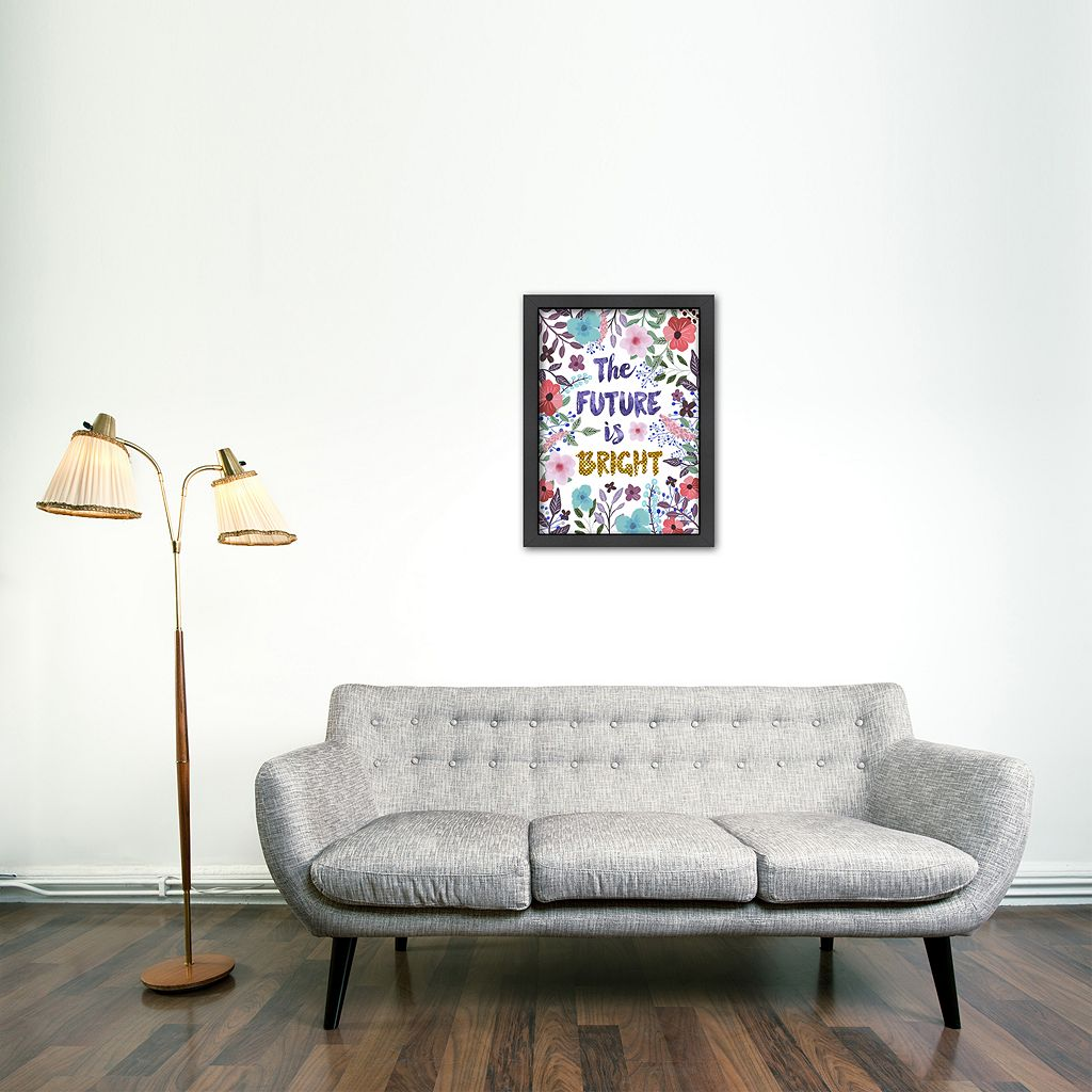 Americanflat ''The Future Is Bright'' Framed Wall Art