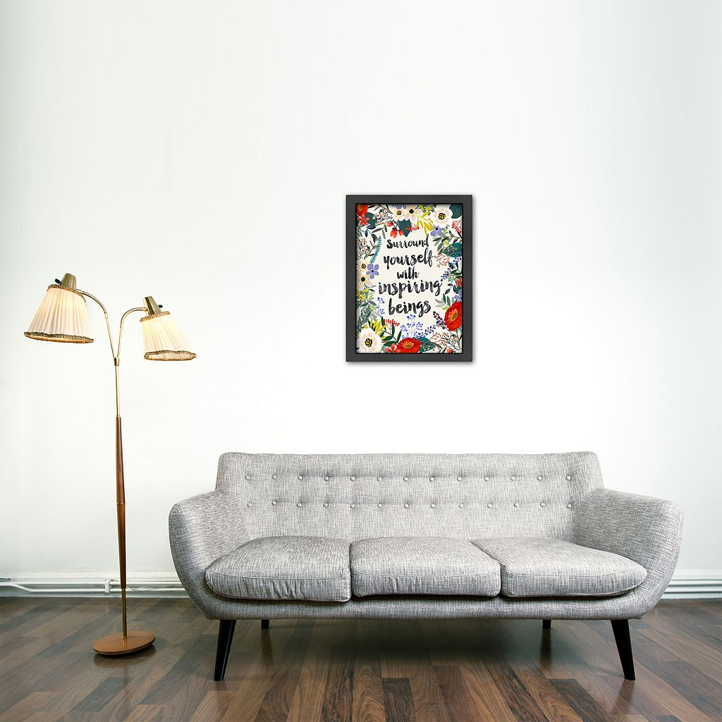 Americanflat ''Surround Yourself With Inspiring Beings'' Framed Wall Art